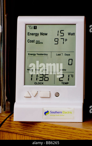 Southern Electric power electrical electric energy Usage Monitor - Stock Photo