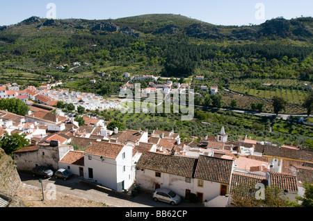 View of Castelo de Vide from the castle (Castelo de Vide, Alentejo, Portugal) - Stock Photo