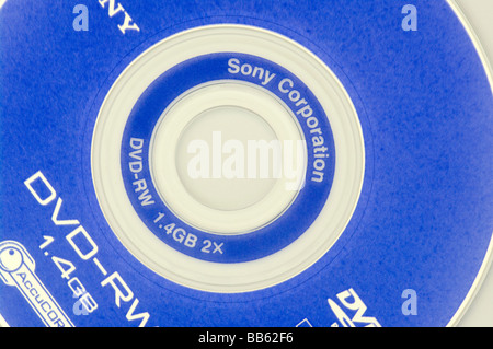 A Sony Re Recordable DVD RW - Stock Photo