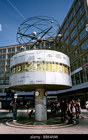 May 17, 2009 - The Urania Weltzeituhr (world clock) at Alexanderplatz in the German capital of Berlin. - Stock Photo