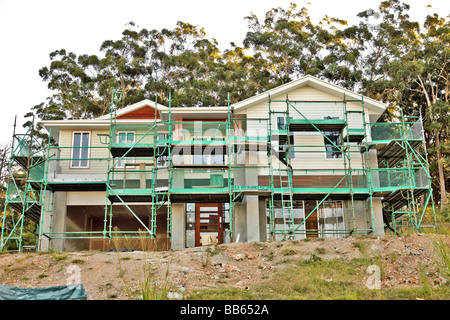 Construction of domestic dwellings in Queensland Australia - Stock Photo