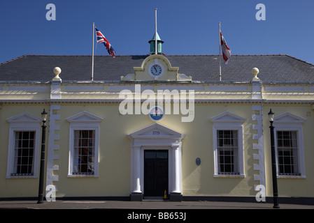 The town hall in Carrickfergus county antrim northern ireland uk the Town Hall was originally built as a courthouse - Stock Photo
