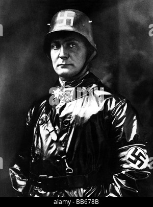 Goering, Hermann, 12.1.1893 - 15.10.1946, German politician (NSDAP), as Commander of SA, 1923, half length, , Additional - Stock Photo