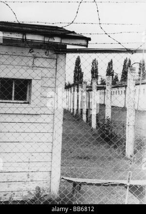 geography / travel, Germany, Dachau, concentration camp, memorial site, fence, July 1968, Additional-Rights-Clearances - Stock Photo