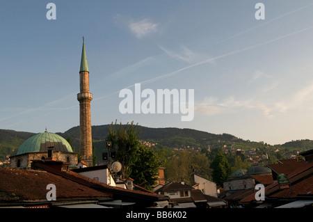 Havadja Durak Mosque in Bascarsija district, Sarajevo capital of Bosnia Herzegovina - Stock Photo