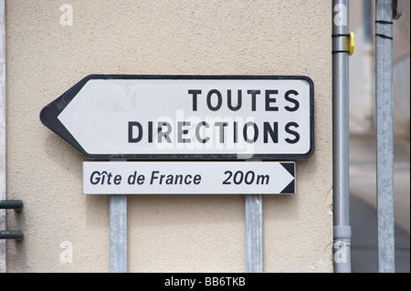 Road sign France - Stock Photo