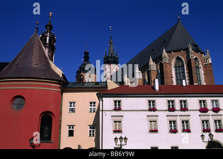 poland, krakow, old town, maly rynek, little market square - Stock Photo