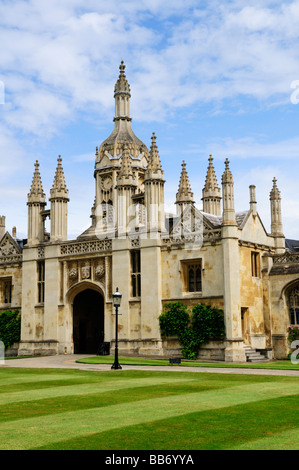 Kings College Gatehouse viewed from inside First Court, Kings College Cambridge England Uk - Stock Photo