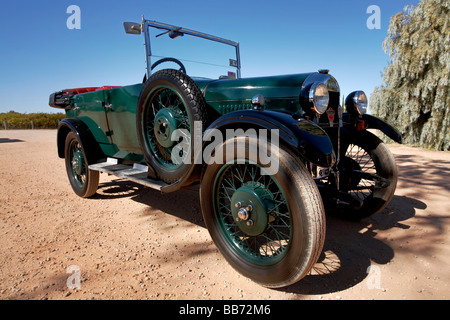 Historic Singer automobiles on a weekend meet at Renmark in the Riverland, South Australia - Stock Photo