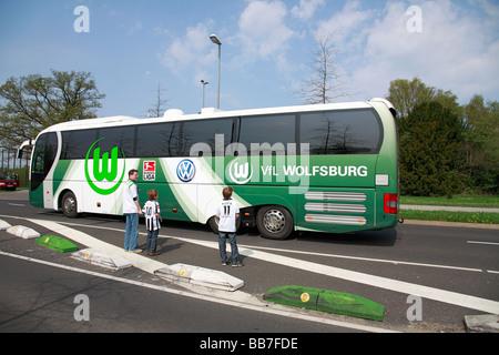 D-Moenchengladbach, Niers, Lower Rhine, North Rhine-Westphalia, sports, football, Bundesliga, 2008/2009, Borussia - Stock Photo