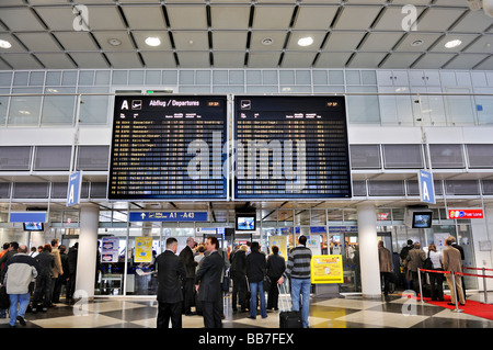 Departure Hall, Terminal 1, Airport MUC 2, Munich, Bavaria, Germany, Europe - Stock Photo