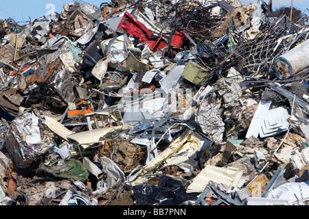 A pile of scrap metal at the Pacific Steel and Recycling center in Elmore County Idaho - Stock Photo