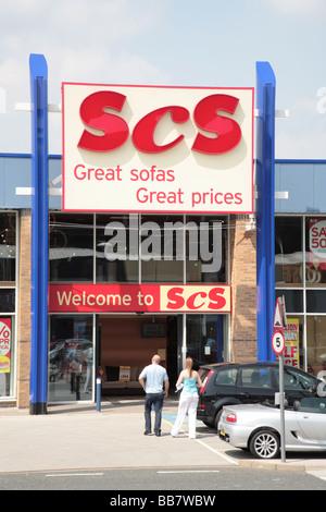 SCS Furniture store, Huddersfield - Stock Photo