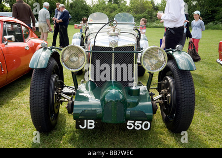 A Vintage MG sports car at a classic car rally, Wallingford, Oxfordshire, UK - Stock Photo