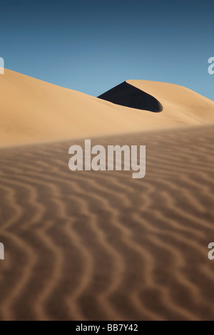 Sand patterns on The Eureka Dunes in Death Valley National Park in California USA - Stock Photo