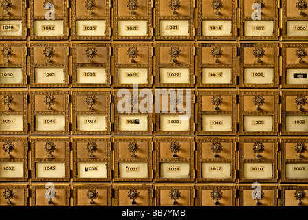 Post office boxes in Ferndale California USA - Stock Photo