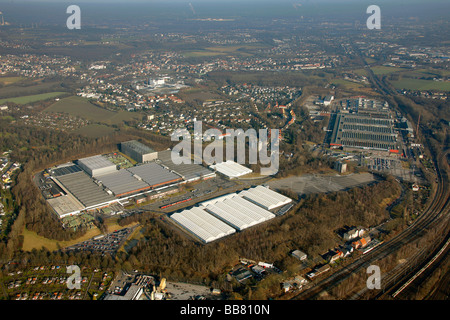 Aerial photo, OPEL Werk 3 and 2 Langendreer, Opel car factory plants 3 and 2, Bochum, Ruhr district, North Rhine - Stock Photo