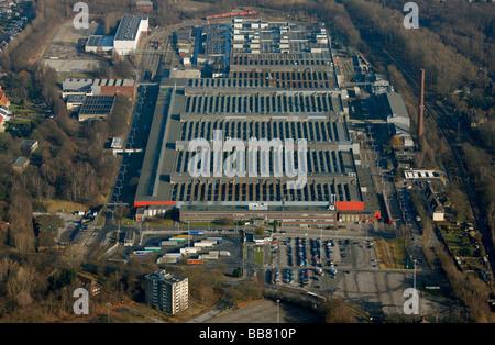 Aerial photo, OPEL Werk 2 Langendreer, Opel car factory plant 2, Bochum, Ruhr district, North Rhine-Westphalia, - Stock Photo