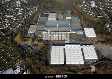 Aerial photo, OPEL Werk 3 Langendreer, Opel car factory plant 3, Bochum, Ruhr district, North Rhine-Westphalia, - Stock Photo