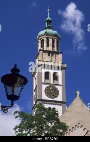Bb Augsburg perlach tower augsburg bavaria germany stock photo royalty free