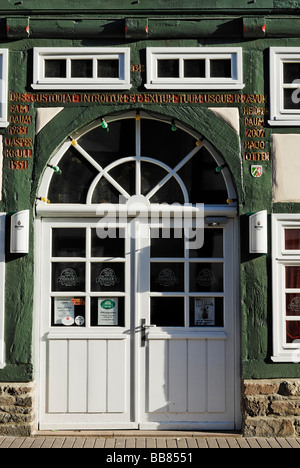 Half-timbered house, Weser Renaissance style, historic town centre, Hoexter, North Rhine-Westphalia, Germany, Europe - Stock Photo