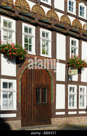 Former house of the sexton, Hoexter, North Rhine-Westphalia, Germany, Europe - Stock Photo
