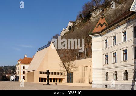 Government building, Vaduz, Liechtenstein principality, Europe - Stock Photo