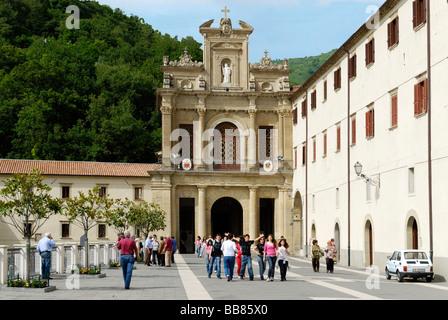 Entrance to the convent church, San Francesco di Paola, Calabria, Italy, Europe - Stock Photo