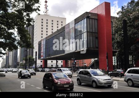 MASP museum, modern architecture in the Avenida Paulista street, Sao Paulo, Brazil, South America