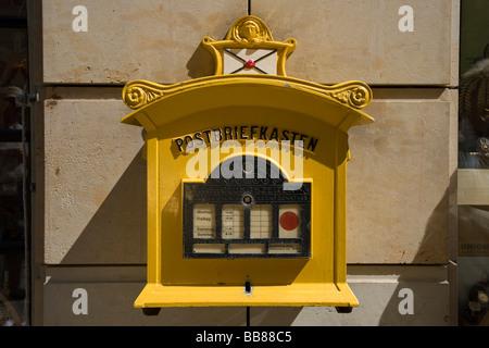 Mail box, Dresden, Saxony, Germany, Europe - Stock Photo