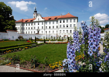 Prelate garden, Schaeftlarn Abbey, district of Munich, Bavaria, Germany - Stock Photo