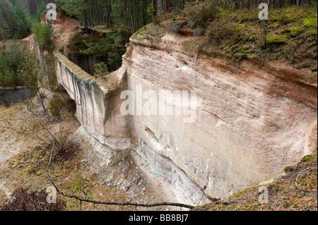 Sandstone quarry near Roth, Nuremberg, Germany, Europe - Stock Photo