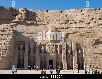 The Small Temple in Abu Simbel, Egypt, Africa - Stock Photo
