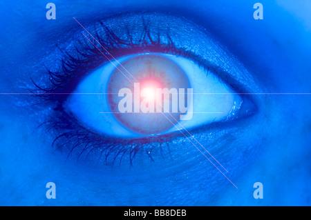 Eye laser - Stock Photo