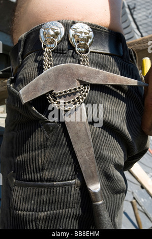 Typical hand tool of a roofer - Stock Photo