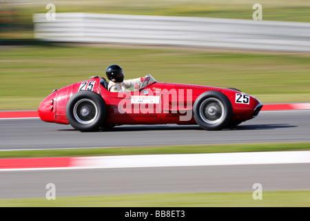 Maserati 250F Formula One, year of manufacture 1954, Oldtimer Grand-Prix Nuerburgring 2008 motor sport race track - Stock Photo