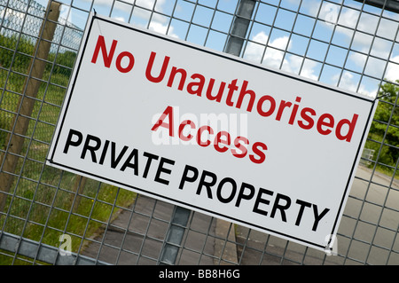 No unauthorused access Private propery sign or notice. - Stock Photo