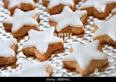 Star shaped cinnamon biscuit - Stock Photo