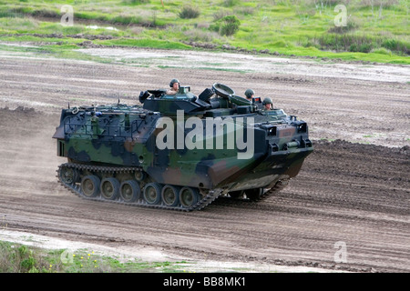 United States Marine Corps Amphibious Assault Vehicle at Camp Pendleton Southern California USA - Stock Photo