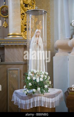 Statue of Virgin Mary, Aglona Basilica interior, Aglona, Latgalia, Latvia - Stock Photo