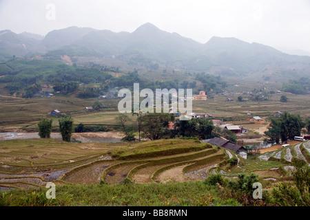 Rice terraces, Lao Chai village, Sapa, Vietnam - Stock Photo