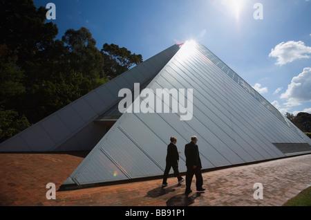 The Bicentennial Conservatory in the Adelaide Botanic Gardens.  Adelaide, South Australia, AUSTRALIA - Stock Photo