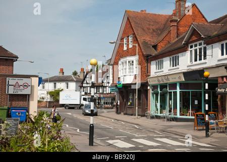 High Street in Pangbourne Berkshire Uk - Stock Photo