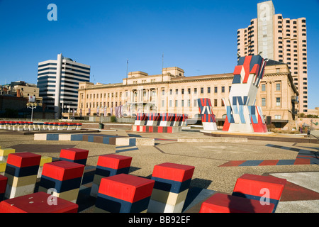 Colourful public artworks at the Adelaide Festival Centre.  Adelaide, South Australia, AUSTRALIA - Stock Photo