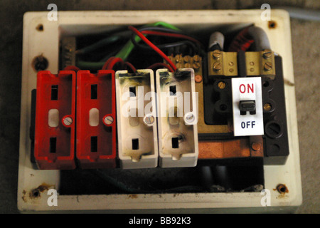 old style fuse box stock photo 54697361 alamy rh alamy com Electrical Fuse Box Automotive Fuse Box