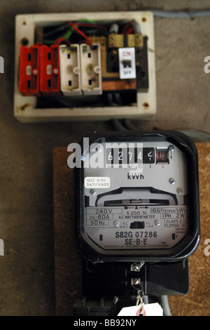 old style fuse box stock photo royalty image 54697361 alamy electrical boxes electric meter and a old style wire fuse box stock photo