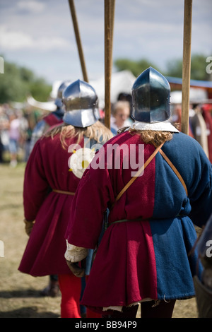 Reenactment of the Battle of Tewkesbury at Tewkesbury Medieval Festival 2008, Gloucestershire, UK - Stock Photo