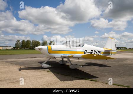 Vans RV-6A G-RVDR parked at Breighton Airfield - Stock Photo