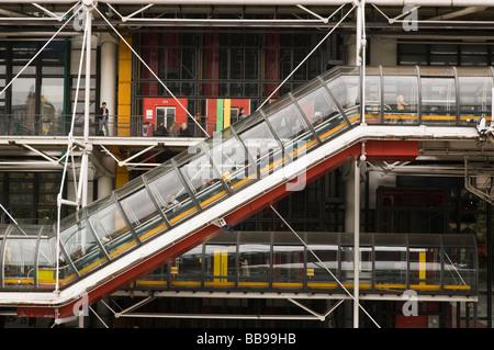 Pomidou Centre Paris France - Stock Photo
