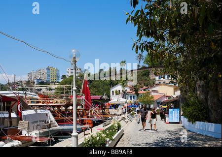 Harbour in Kaleici (the Old Town), Antalya, Mediterranean Coast, Turkey - Stock Photo